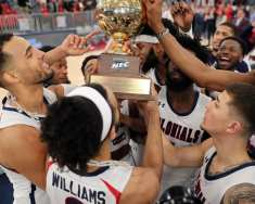 RMU Celebrates NEC Championship March 10, 2020 -- David Hague/PSN