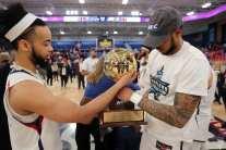 RMU Celebrates NEC Championship March 10, 2020 -- David Hague/PSN