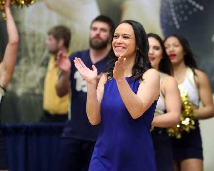 Coach Samantha Snider Pitt Gymnastics January 12, 2019 -- David Hague/PSN