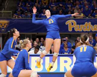 Kyle Lund (23) for Pitt Volleyball September 22, 2019 -- David Hague/PSN