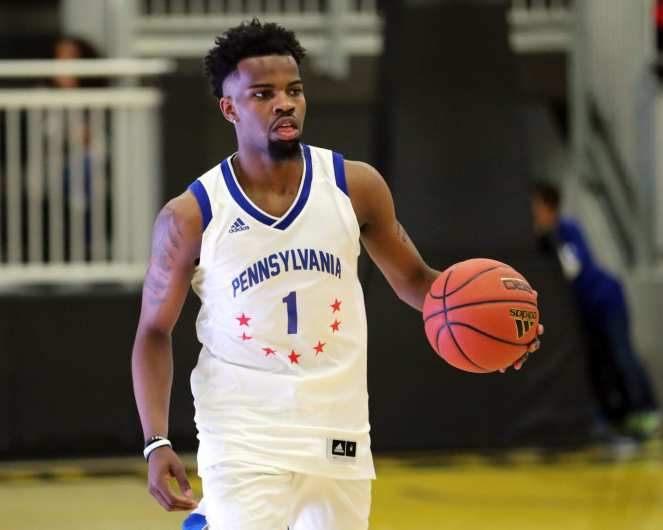Keandre Bowles (1) in the PBC Roundball Classic April 28, 2019 -- David Hague/PSN