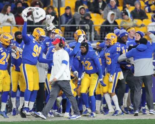 Pitt Football Bench November 14, 2019 -- David Hague/PSN