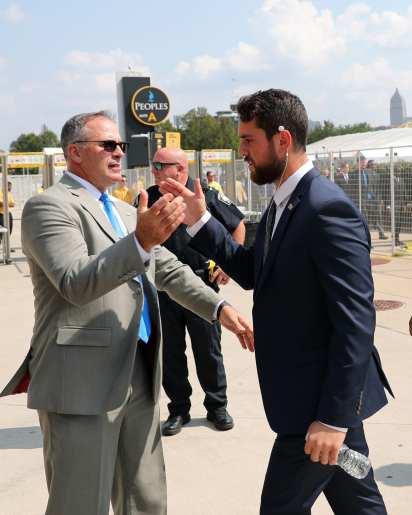 Pitt Football Panther Prowl Pat Narduzzi and Kirk Christodoulou September 21, 2019 -- David Hague/PSN