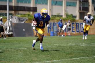 Jordan Addison at Pitt training camp on Aug. 27, 2020 -- Pitt Athletics