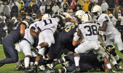 Trying to move the pile versus Penn State. -- MIKE SMETANA