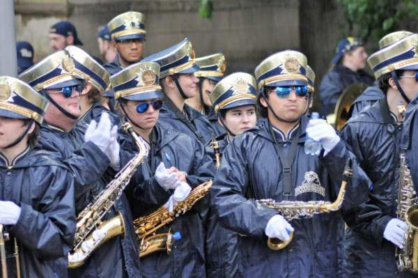 The Pitt band before the Pitt-Penn State game -- MIKE SMETANA