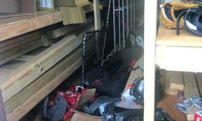 Homewood Football's shed is left thin on equipment for the upcoming season as it was ransacked over the offseason. (Photo Credit: Homewood Bulldawgs via Twitter)