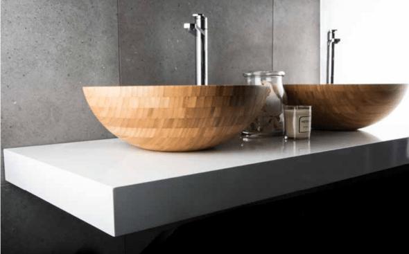 Luxury designer bathroom sink