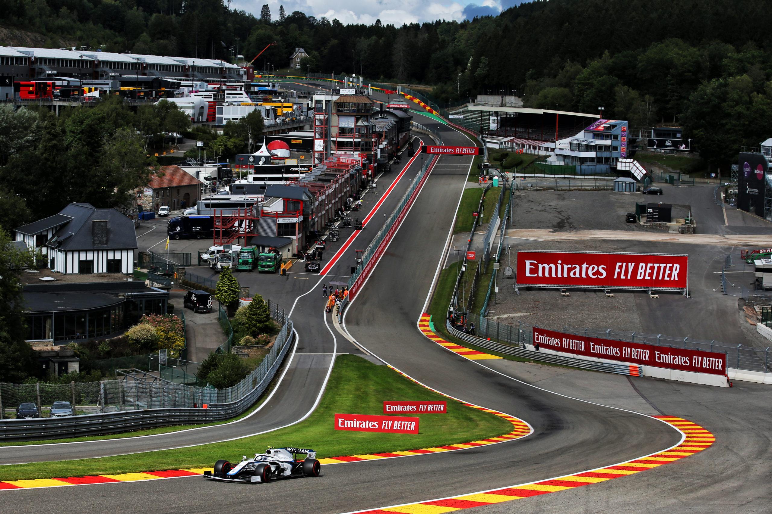 Nicholas Latifi (CDN) Williams Racing FW43. Belgian Grand Prix, Saturday 29th August 2020. Spa-Francorchamps, Belgium.