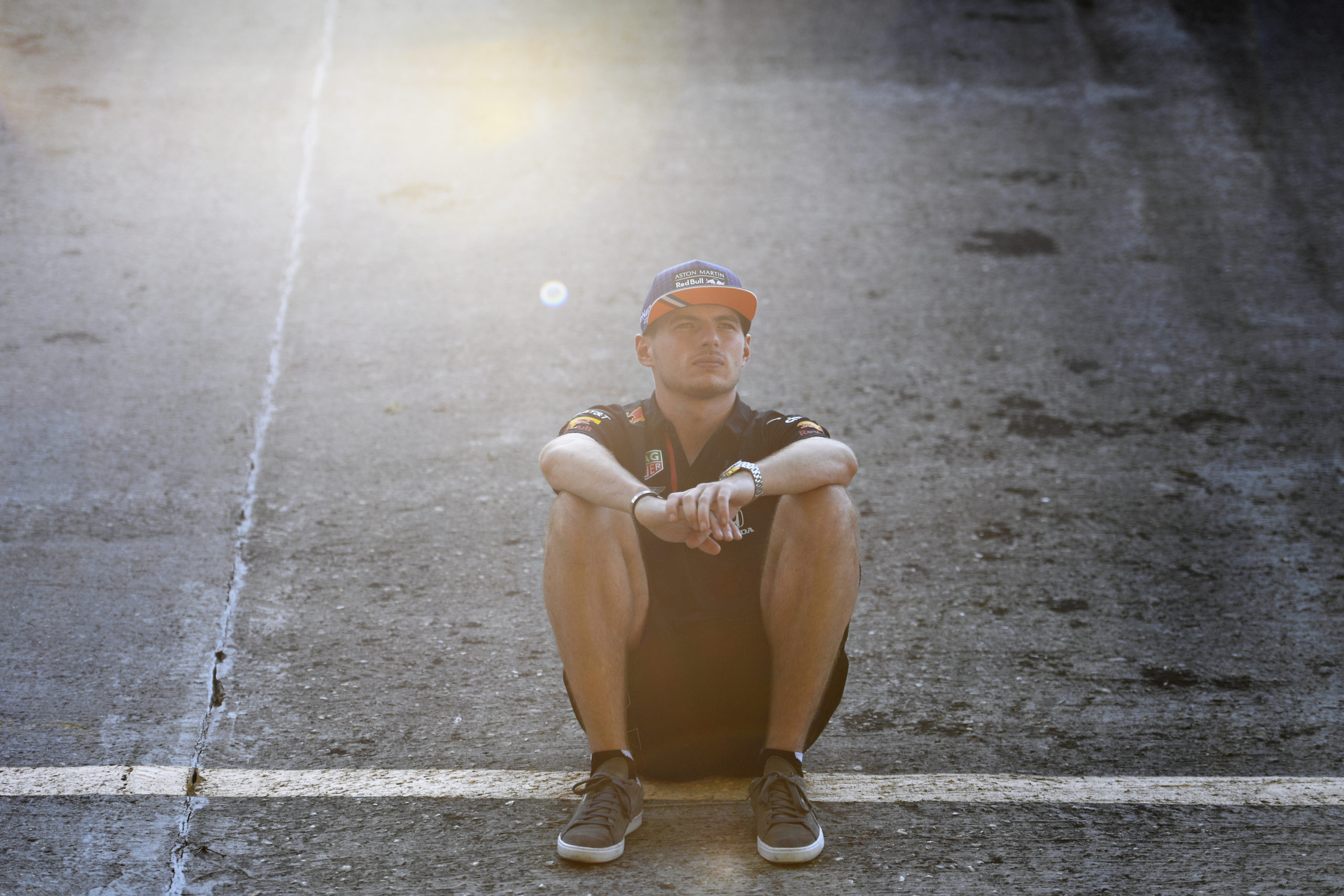 MONZA, ITALY - SEPTEMBER 03: Max Verstappen of Netherlands and Red Bull Racing looks on from the old circuit banking during previews ahead of the F1 Grand Prix of Italy at Autodromo di Monza on September 03, 2020 in Monza, Italy. (Photo by Rudy Carezzevoli/Getty Images) // Getty Images / Red Bull Content Pool  // SI202009040028 // Usage for editorial use only //