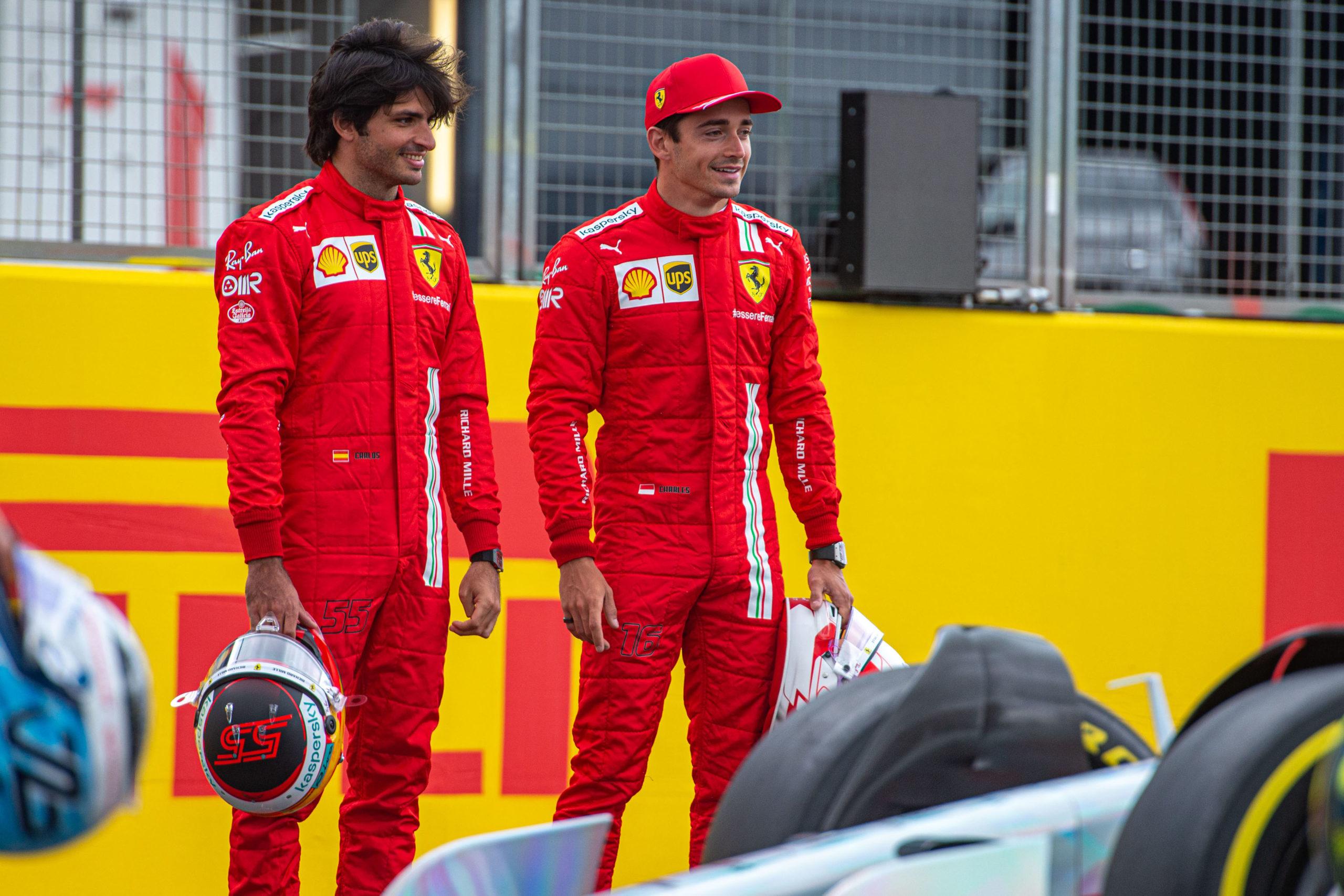 Carlos Sainz and Charles Leclerc, Ferrari, GP GRAN BRETAGNA F1/2021 - GIOVEDÌ 15/07/2021   credit: @Scuderia Ferrari Press Office
