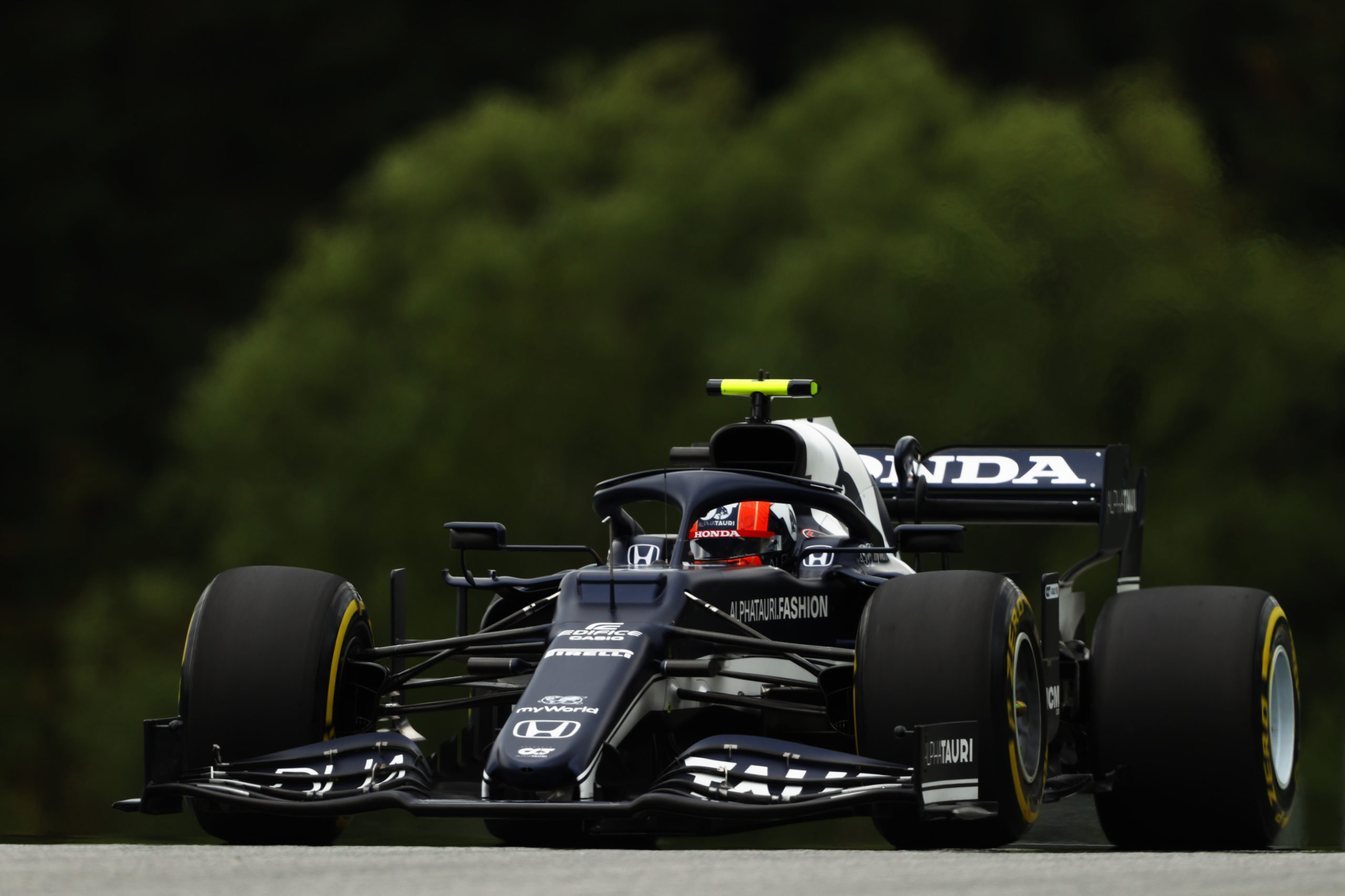 SPIELBERG, AUSTRIA - JULY 02: Pierre Gasly of France driving the (10) Scuderia AlphaTauri AT02 Honda during practice ahead of the F1 Grand Prix of Austria at Red Bull Ring on July 02, 2021 in Spielberg, Austria. (Photo by Bryn Lennon/Getty Images) // Getty Images / Red Bull Content Pool  // SI202107020241 // Usage for editorial use only //