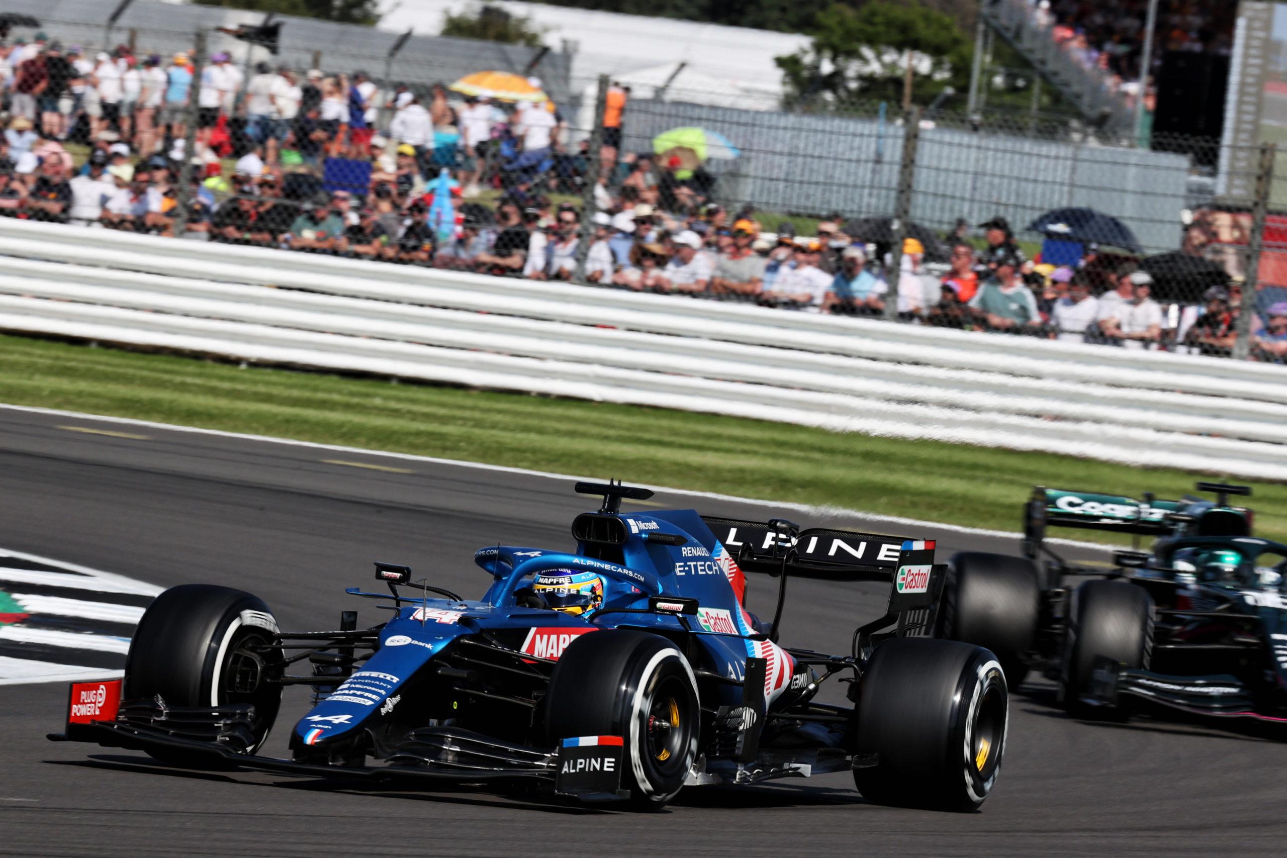 Fernando Alonso (ESP) Alpine F1 Team A521, F1 Grand Prix of Great Britain at Silverstone on July 18, 2021 in Northampton, England.