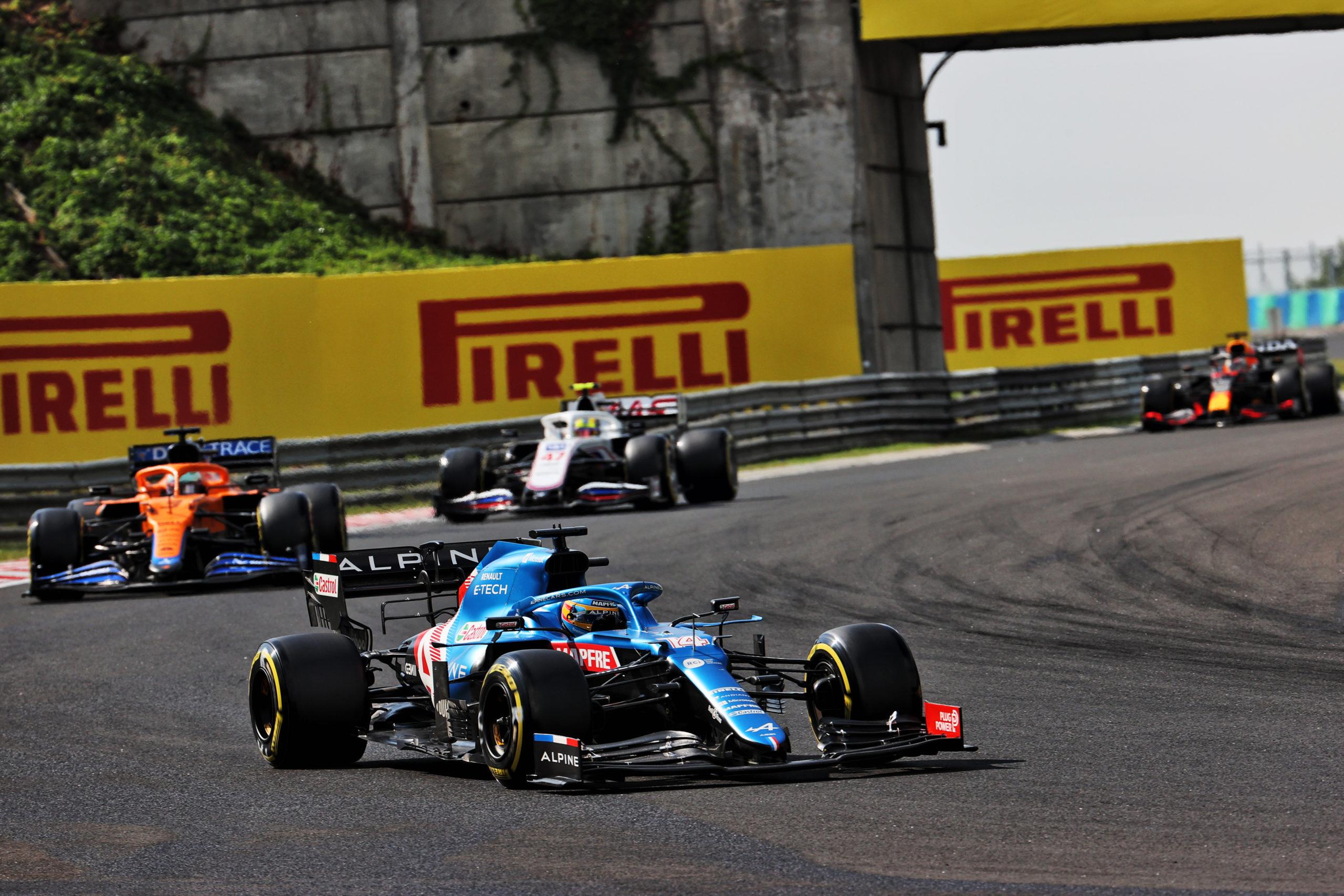Fernando Alonso (ESP) , Alpine F1 Team A521, F1 Grand Prix of Hungary at Hungaroring on July 31, 2021