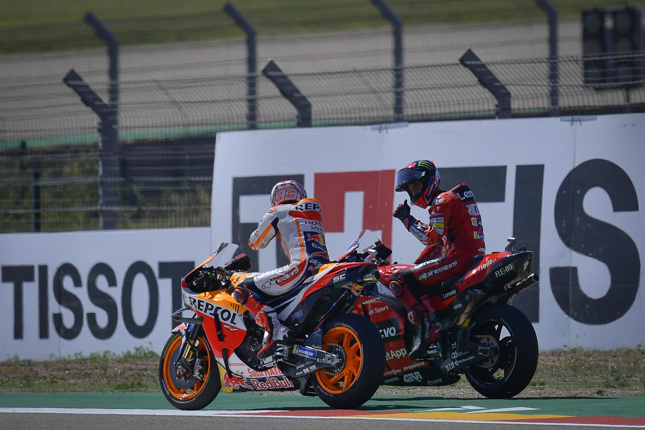 Francesco Bagnaia, Marc Marquez, Gran Premio TISSOT de Aragón