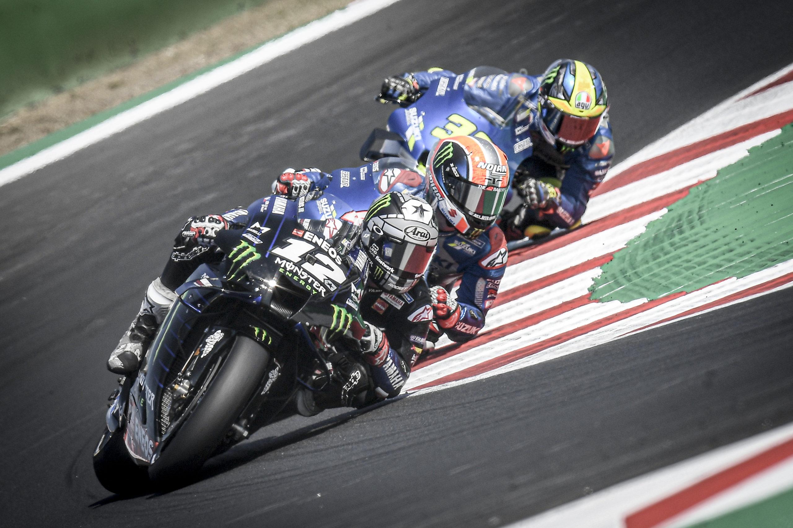 Maverick Viñales, Alex Rins, Joan Mir, San Marino MotoGP. 13September 2020
