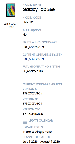Samsung-Android-10-update-Samsung-Galaxy-Tab-S5e-Android-10-update-release-date.