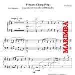 Princess Chang Ping, Concerto for Marimba and Orchestra - Piano Reduction - Marimba
