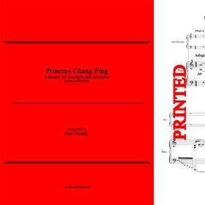 Princess Chang Ping, Concerto for Marimba & Orchestra - Piano Reduction