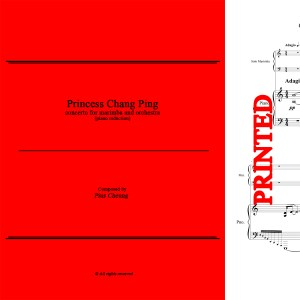 Princess Chang Ping, Concerto for Marimba & Orchestra - Piano Reduction