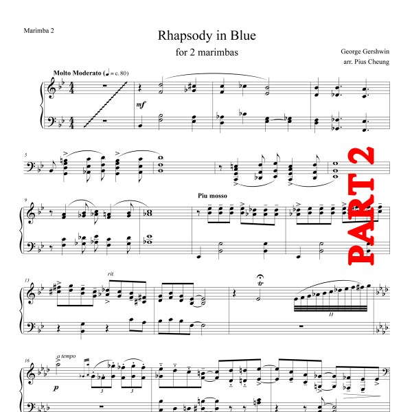 Rhapsody in Blue (arr. for marimba duo) - Part 2