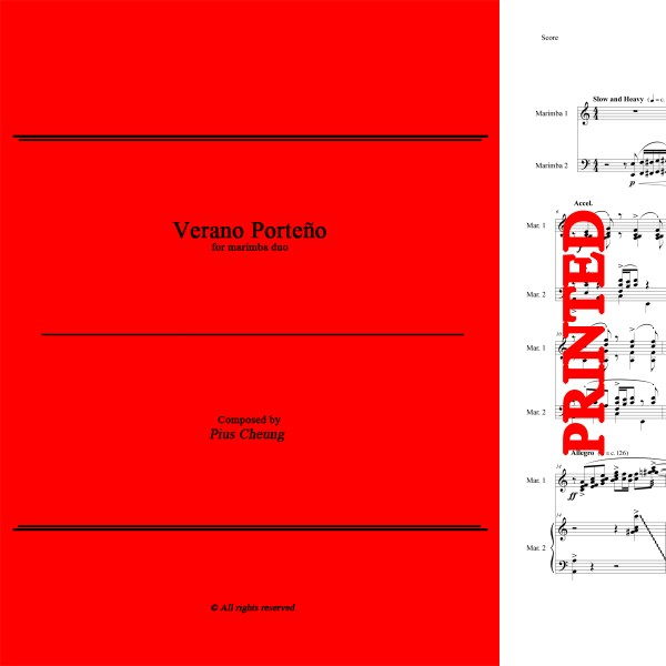 Verano Porteno (arr. for marimba duo)
