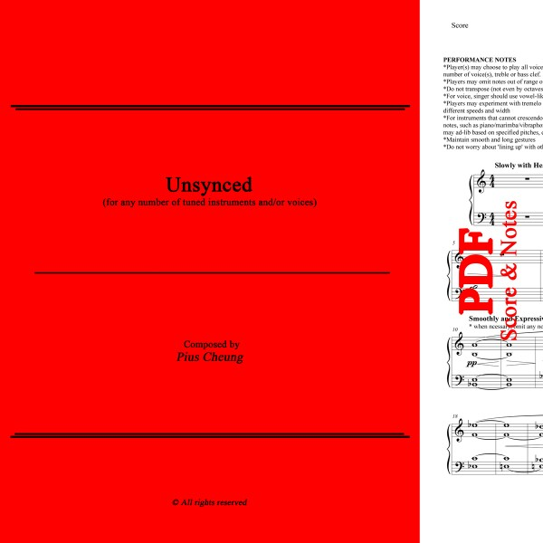 Unsynced (free instrumentation), Pius Cheung