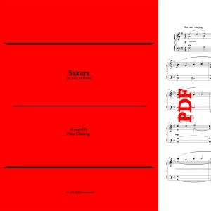 Sakura - arr for solo marimba by Pius Cheung
