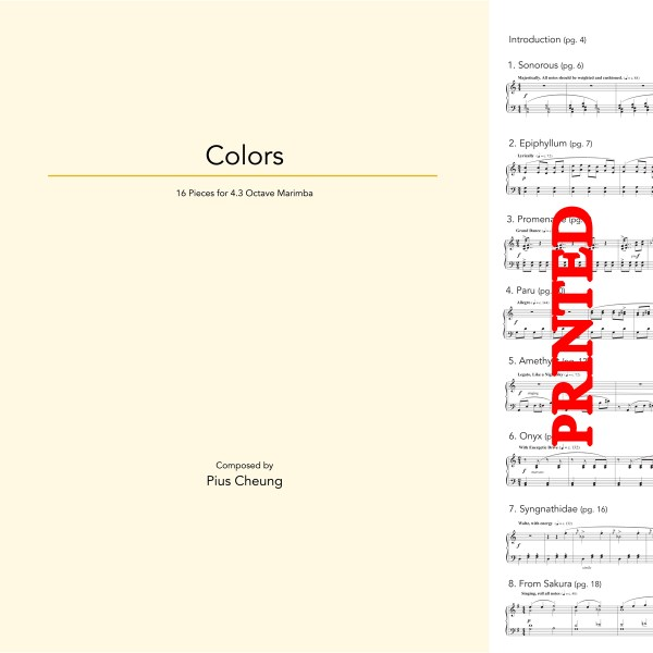 Colors (16 pieces for solo marimba)