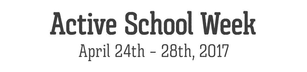 Active School Week 2017