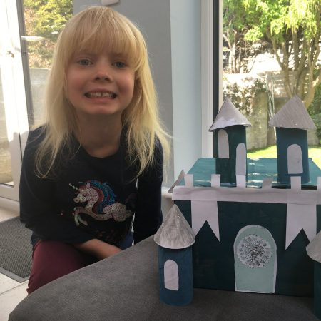 "Elena Sr Inf Ms Durkan ""Elena made a castle"""