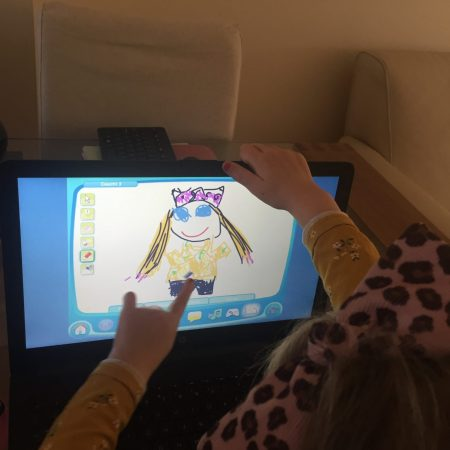 """Lucy Sr Inf Ms. Godson """"Enjoying doing Bua na Cainte! Thank you so much Ms Godson for all the wonderful activities and fun school work! My younger sister is enjoying it all too"""""""