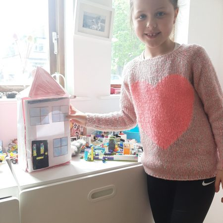 """Lucy 2nd Mr Neary """"Lucy's house made from Easter egg box paper and colours"""""""
