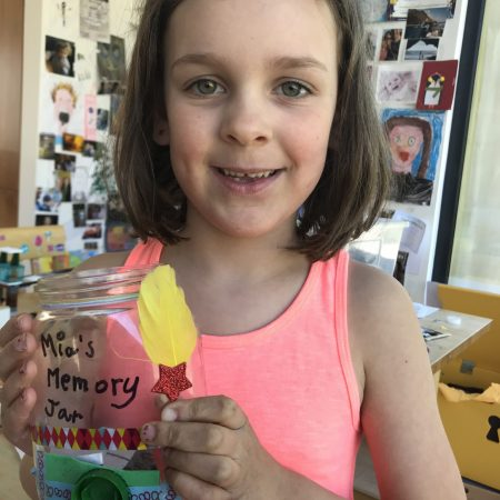 """Mia Sr. Inf Ms. Godson """"My Magical Memory Jar from our project work"""""""