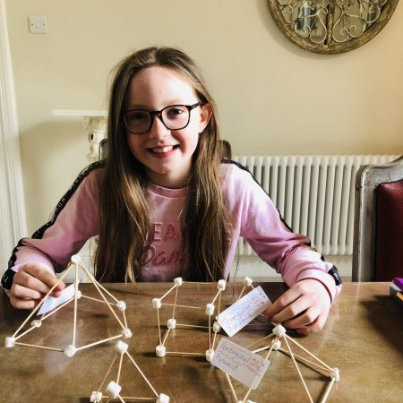 Katie Mr Walshe 4th Making and understanding my maths 3D shapes with cocktail sticks and marshmallows