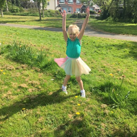 """Elena Sr. Inf Ms Durkan """"Elena took a break from scooting to do some jumping jacks"""""""