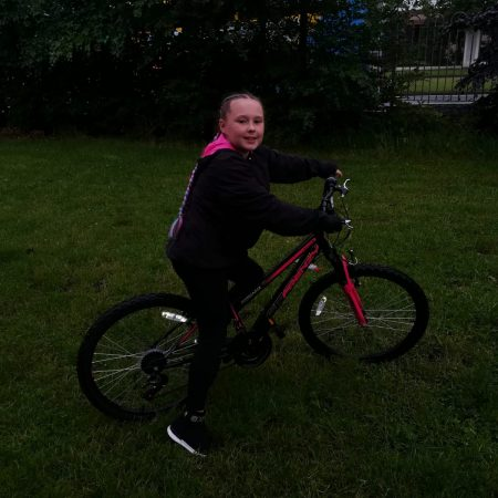 Lily 3rd Ms Buckley raised €530 for Laura Lynn while cycling for sports day!