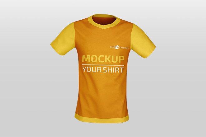 Download Free Jersey Shirt Mockup Template - Free Download