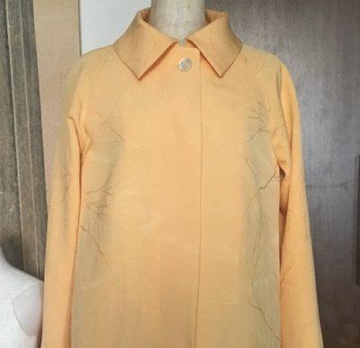 着物リメイクでスプリングコート