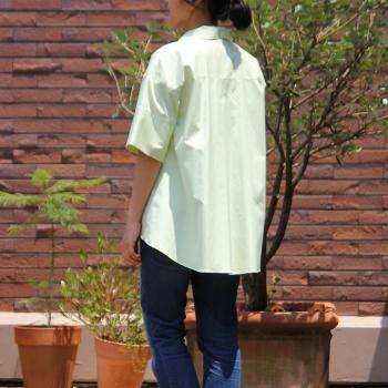 東京青山の初心者向け洋裁教室ピボットの開襟シャツのサンプル
