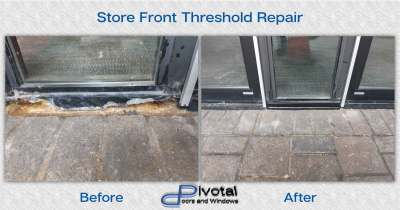 Store front threshold repair