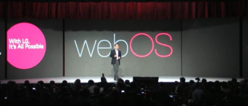 A big webOS logo at CES 2014