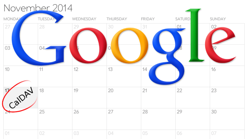 Use CalDAV from the 17th to access Google Calendar