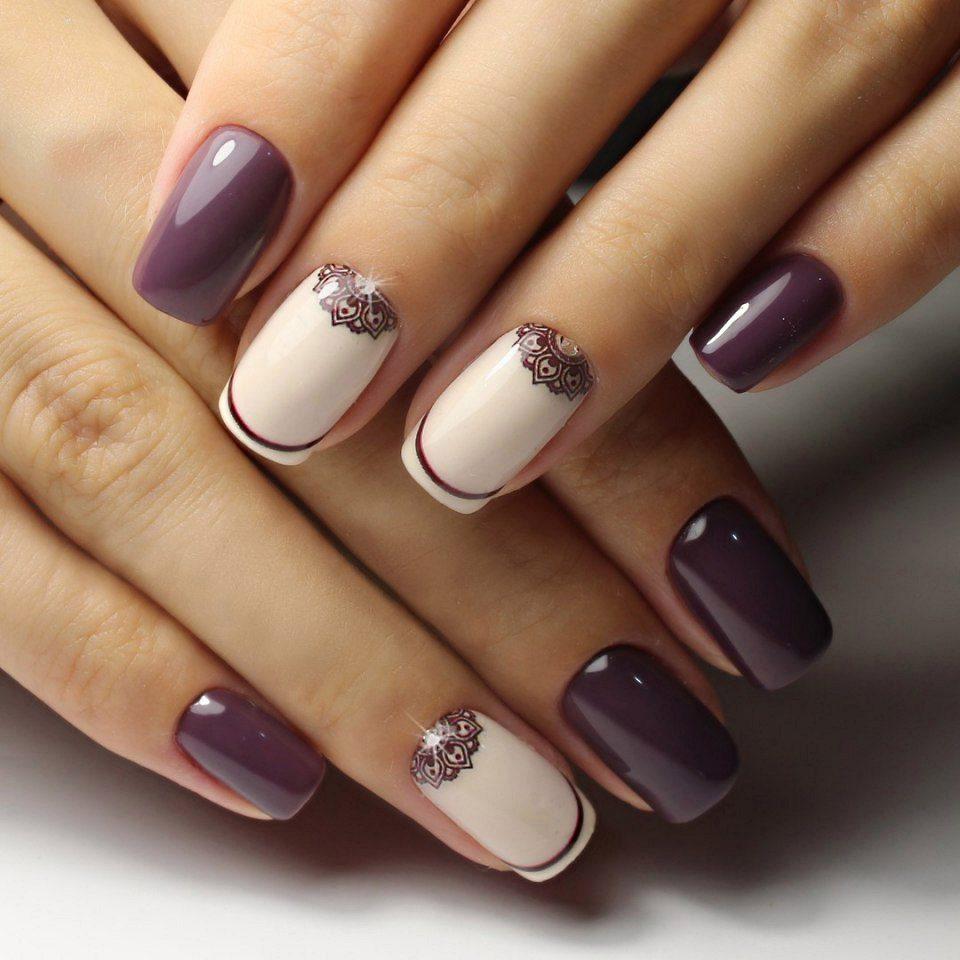 красивый дизайн ногтей на короткие ногти фото 5