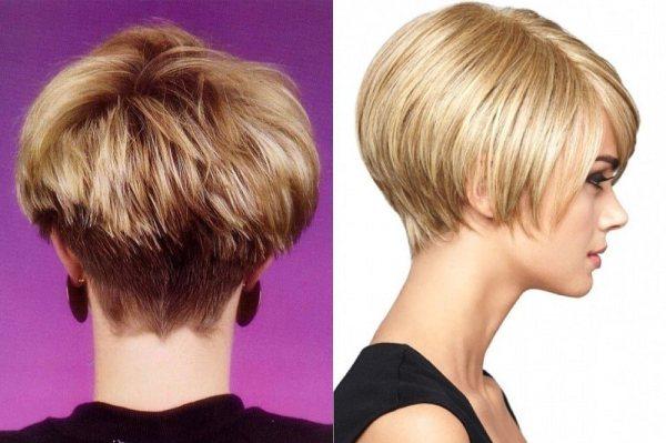 Стрижка боб-каре на короткие волосы 2018: вид сзади и спереди