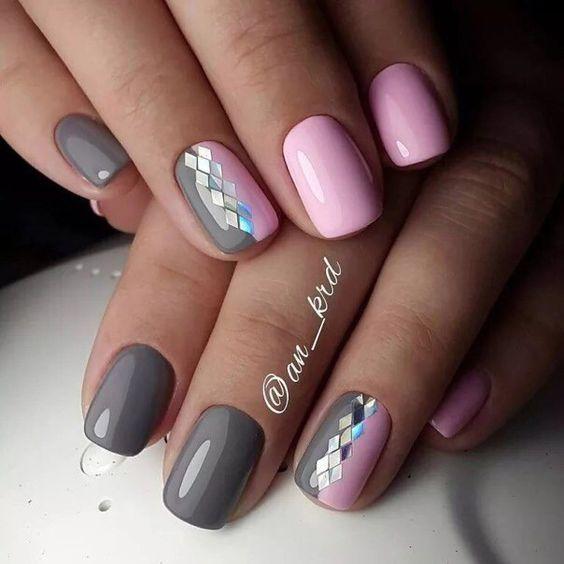 несложный дизайн ногтей 1