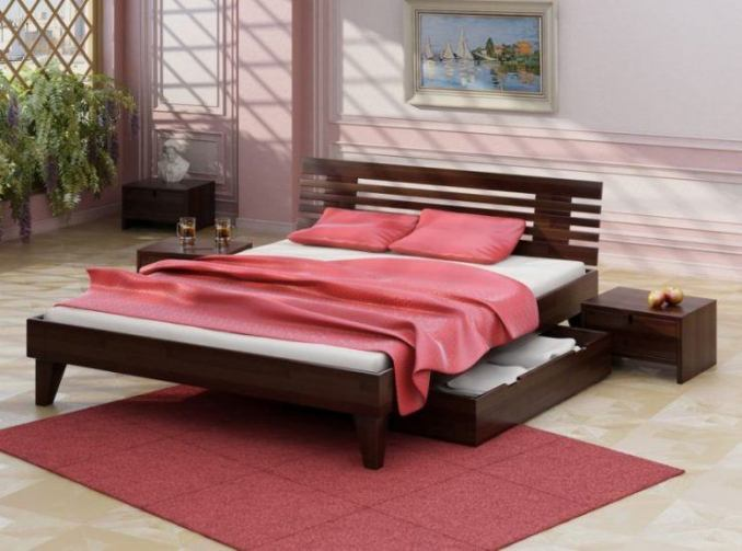 Beautiful beds - varieties and features of choice 50