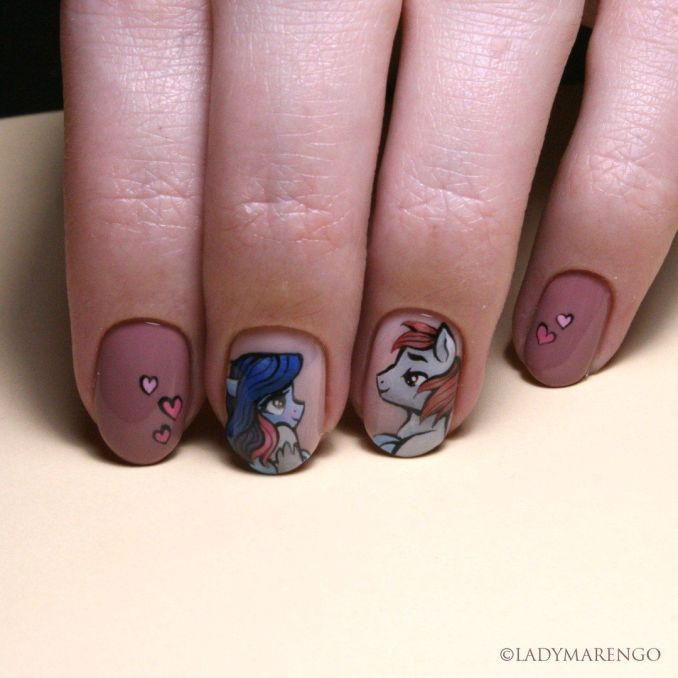 Bright nail art with a unicorn: stylish ideas for manicure in the photo and how to do it 32