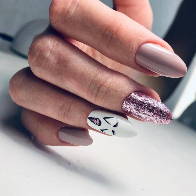 Bright nail art with a unicorn: stylish ideas for manicure in the photo and how to do it 45