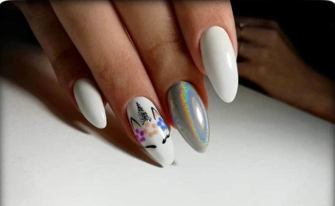 Bright nail art with a unicorn: stylish ideas for manicure in the photo and how to do it 91